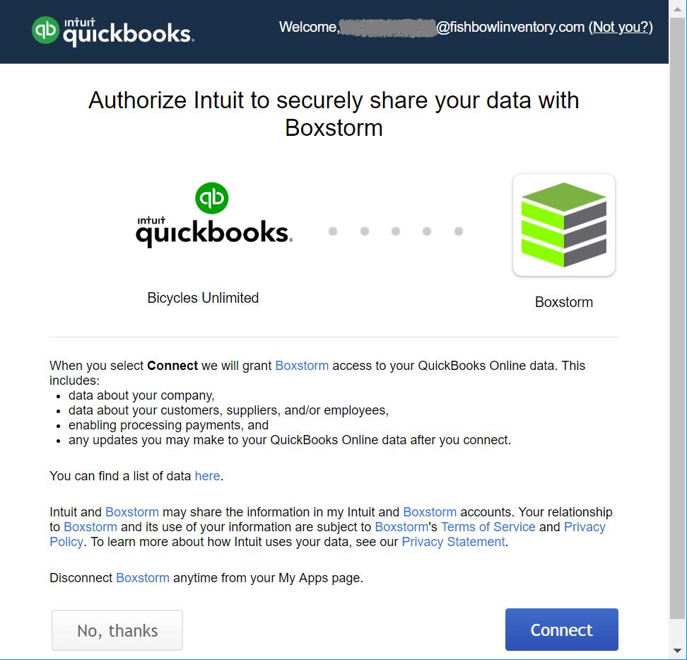 QuickBooks Online | Boxstorm Help Center